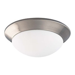 Savoy House - Savoy House Flush Mount Flush Mount Ceiling Fixture in Satin Nickel - Shown in picture: Suitable for a variety of spaces in Satin Nickel Finish with Marble Glass.