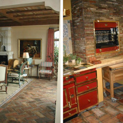 Antique Terracotta floors 'Pianella' and 'Breadsticks' - Antique Red Terracotta tiles 'Pianella' reclaimed from Tuscany, Italy.