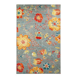Mohawk Home - Strata Free Spirit Multi Floral 5' x 8' Mohawk Rug (11825) - Cool and warm hues meet within this design to create a rug that is an explosion of color.Action Backing