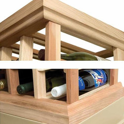 Wine Cellar Innovations - Designer Straight Molding Kit (Rustic Pine - Unstained) - Choose Wood Type and Stain: Rustic Pine - Unstained. Includes one 4 ft. section of OG base and OG crown. Beveled ends and rounded edges. Made in USA. Crown and base: 1.44 in. H (4 lbs.). Warranty. Assembly Instructions