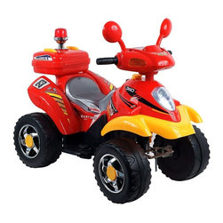Trademark Global - Lil' Rider Battery Operated 4 Wheeler in Red - Includes charger (charges fully in 12 hrs.). Battery: 6V - 4.5AH. Speed: 1.75 mph. Lights and sound effects. Forward and reverse. Ages: 2-4 years. Weight capacity: 66 lbs.. 38 in. L x 18.5 in. W x 27.5 in. HTo moms of 2-4 year old's, Lil' Rider Battery Operated 4-Wheeler Ride-On Car gives kids the new adventure and role play of riding their own ATV. This is a toy that your kid will not stop talking about. You will be the talk of the block with one of the coolest ATVs ever made.