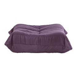 """LexMod - Waverunner Ottoman in Purple - Waverunner Ottoman in Purple - Provide natural comfort at every gathering with a balanced set of functional symmetry. Observe as Waverunner interplays ergonomics with dense foam cushioning to precisely reflect full relaxation. Wander through the pathways of elucidation with a multi-layered environment of intricate folds and holistic positioning. Set Includes: One - Waverunner Modular Ottoman Perfect for living room or lounge, Covered in easy-care microfiber, Ground level Density foam, Sold as a set or individually Overall Product Dimensions: 26""""L x 31""""W x 13""""H - Mid Century Modern Furniture."""