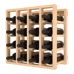 Wine Racks America - Lattice Stacking Wine Cubicle in Ponderosa Pine, (Unstained) - Designed to stack one on top of the other for space-saving wine storage our stacking cubes are ideal for an expanding collection. Use as a stand alone rack in your kitchen or living space or pair with the 20 Bottle X-Cube Wine Rack and/or the Stemware Rack Cube for flexible storage.