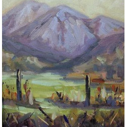 """Gunnison Country  (Gunnison Co)"" (Original) By Bob Martin - From A Spot Looking North To Crested Buttes,Co"