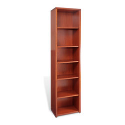Jesper Office Furniture - 3000 Series Narrow Bookcase - Designed to help you customize your office, this remarkably Narrow Bookcase transforms your space by arranging and rearranging your components for years to come. Commercial in grade and professional in appearance, the 3000 Collection offers classic design with the ease of modern commercial grade construction. It is made with the finest wood veneers and solid wood edges. The high-quality construction provides optimum load-bearing performance and exceptional life-long stability.