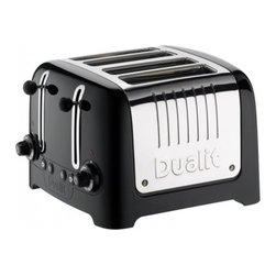 "Dualit - Dualit Lite ""Chunky"" Commercial Toaster - Black Soft Touch - Peek & Pop function- allows to check the bread without cancelling the toasting cycle. High gloss finish. Bagel button for toasting buns/bagels (toasts one side and warms the other). Defrost button for toasting frozen bread. 1500 watts for faster toasting, with accurate browning control. 8-setting temperature dial with accurate browning control and automatic pop-up. Body made of insulated soft touch ABS and polished stainless steel. High lift mechanism to remove small items easily. Extra wide 36mm slots to accommodate larger items. Concealed, removable crumb tray. Optional Lite sandwich cage accommodates extra-deep fillings. Dimensions: 11.2 x 11"" x 8"" high"