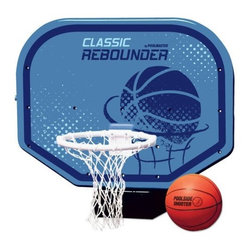 """Poolmaster - Pro Poolside Basketball Game - The classic pro poolside basketball game features a compact polyform game base (sand or water-fill) sturdy 14"""" PVC hoop durable hand woven polyethylene net pro-style game ball and inflating needle all-weather and a hard body backboard."""