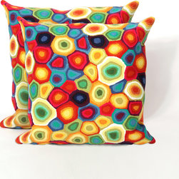 None - Pop Rocks 20-inch Decorative Pillow (Set of 2) - Pop Rocks is a work of art that combines intricate hand crafting with modern technology.