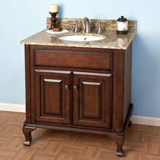 "30"" Dark Cherry Mercia Vanity Cabinet with Undermount Basin 