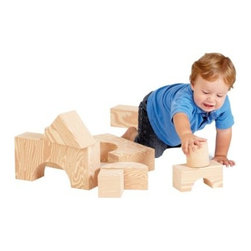 Edushape 32 Piece Big Wood-Like Blocks - The Edushape 32 Piece Big Wood-Like Blocks look just like classic wooden blocks but are actually made of soft foam. Your child will love rearranging these blocks to create any and everything they can imagine. And if their creations are more ambitious and less structurally sound, they'll really appreciate the soft foam.About EdushapeEstablished in 1983, Edushape is a family-owned and -operated company with a focus on manufacturing quality children's toys and products. Edushape is committed to producing soft, safe, quality children's toys that promote successful developmental learning through play.
