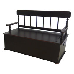 Levels of Discovery - Simply Classic: Espresso Finish Bench Seat with Storage - Classic colors�timeless finishes�always in style The perfect accent for any d�corTimeless finish. All products have instructions included for assembly. All products have instructions included for assembly. .