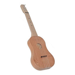 Zither Heaven - Zither Heaven Soprano Ukulele - UKS14-C - Shop for Toy Instruments from Hayneedle.com! Slightly smaller than the regular Zither Ukulele the Zither Heaven Soprano Ukulele has frets placed closer together making it easier for a young child to play. Made in the United States with solid maple hardwood this ukulele features a 14-inch vibrating string length. The precise action and placement of the bridge allows chords to be played at the bottom and top of the neck without losing sound quality. Nylon frets and strings produce great sound and Zither pins are used for tuning. A song booklet is also included to get your child started. About Zither HeavenZither Heaven is dedicated to producing high quality musical instruments in the United States using sustainable native North American hardwoods along with other components that are made in the USA. Their commitment to quality and precision produces great-sounding musical instruments for both children and adults. Since Zither is involved in the production of their products at every stage and by producing locally they are able to guarantee satisfaction with their products.