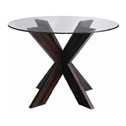 Simon X Table Base - This X-base table is a wonderful solution for a tight space, whether it's a small area dedicated to dining or an eat-in kitchen. With a large scale bed, a two make a great pair of nightstands. Also available with a red or white base.