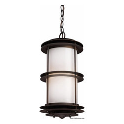 Elk Lighting - Elk Lighting 42153/1 Craftsman Mission 1 Light Outdoor PendantBurbank Collection - K. was founded in Eastern Pennsylvania in 1983 by three industry experts, Adolf Ebenstein, Jonathan Lesko, and Russell King.