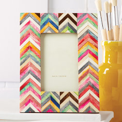 "Tozai - Spectrum Bone Mosaic 4x6 Photo Frame - Bold colors exude modern excitement on the Spectrum photo frame. A stylish tabletop decor piece, this bone and sheesham wood accessory captivates with a vibrant, mosaic design. 7.5""W x 9.5""H; Holds 4""W x 6""H photo; Pink, white, green, blue, yellow, gray, brown and red"