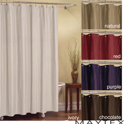 Maytex - Chadwell Striped Polyester Fabric Shower Curtain (70' x 72') - Add functionality and elegance to your bathroom with these fabric shower curtains from Chadwell. With a length of 72 inches,these curtains are long enough to fit most showers,and with five color choices,you can easily match your decor.