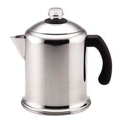 Farberware Cookware - Farberware Classic Stainless Steel Yosemite 8 cup Percolator - Farberware Classic Yosemite 8 Cup Percolator.  Polished Stainless Steel for beauty and durability.  Permanent filter basket - no messy paper filters.  Easy care - fully immersible and dishwasher safe.