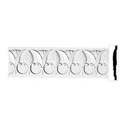"The Renovators Supply - Crown Moldings Urethane Ornate Duke Manor - Crown Molding | 11627 - Crown Moldings: Made of virtually indestructible high-density urethane our crown molding is cast from steel molds guaranteeing the highest quality on the market. High-precision steel molds provide a higher quality pattern consistency, design clarity and overall strength and durability. Lightweight they are easily installed with no special skills. Unlike plaster or wood urethane is resistant to cracking, warping or peeling.  Factory-primed our crown molding is ready for finishing. Measures 96""x7""."