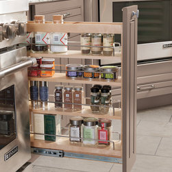 Diamond Base Pantry Pullout - Making the most of a slim space, the Base Pantry Pullout is perfect for storage of spices, oils and other kitchen necessities.