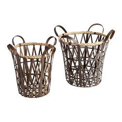 Cyan Design - Cyan Design 06159 Rustic Crusoe Baskets - Cyan Design 06159 Rustic Crusoe Baskets