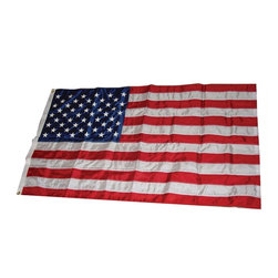 Heath - 3' x 5' Nylon U.S. Flag - Outdoor 3 foot x 5 foot Nylon Sewn Strips & Embroidered Stars U.S. Flag- Banner Style Flag, Clamshell Pack - Nylon-highest quality, resists fading. Double stitched sewn stripes for longer life. Strong white heading with rust-resistant Brass grommets.