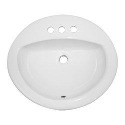 "TCS Home Supplies - Porcelain Ceramic Vanity Drop In Bathroom Vessel Sink - 20-1/2 x 17-3/4 x 7-1/2 - Drop In Bathroom Vessel Sink. Porcelain Ceramic. Available in White and Biscuit. Dimensions 20-1/2"" x 17-3/4"" x 7-1/2"" D."