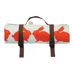 Anorak Kissing Rabbits Picnic Blanket from Anorak