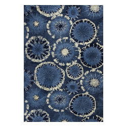 KAS - Kas Allure 4050 Blue Starburst Rug, 30 in X 50 in - Kas Allure 4050 Blue Starburst Area Rug. Kas Allure 4050 Blue Starburst Area Rug . Luxurious, comfortable & durable...a striking mix of style & life! Super soft, luxurious patterned shags made of 100% polyester, simply gorgeous for entertaining yet durable enough for every day life.
