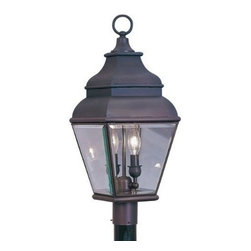Livex Lighting - Livex Exeter Outdoor Post Head Bronze -2592-07 - Livex products are highly detailed and meticulously finished by some of the best craftsmen in the business
