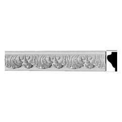 Renovators Supply - Cornice White Urethane Bebel - Cornice - Ornate | 20798 - Cornices: Made of virtually indestructible high-density urethane our cornice is cast from steel molds guaranteeing the highest quality on the market. High-precision steel molds provide a higher quality pattern consistency, design clarity and overall strength and durability. Lightweight they are easily installed with no special skills. Unlike plaster or wood urethane is resistant to cracking, warping or peeling.  Factory-primed our cornice is ready for finishing.   This measures 78 5/8 inch long x 2 3/4 inch high.