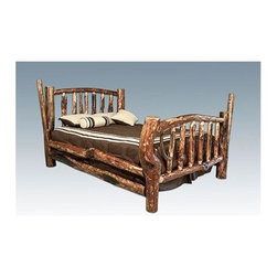 Montana Woodworks - Glacier Country California King Character Bed - Unique and unusual appearance. Designed and crafted to last a lifetime. 20-year limited warranty. Sprayed with stain and three coats of premium grade, clear lacquer. Hand-crafted in the US, each Montana Woodwork product is made from unprocessed, solid wood that highlights the character of its source tree with unique knots and grains. Made in USA. Minimal assembly required. 98 in. L x 76 in. W x 56 in. H (377 lbs.)This bed truly has character! An incredible, one-of-a-kind log bed that all your friends will envy. All Montana Woodworks furniture is designed and built to last a lifetime, ensuring you an heirloom quality item that can be handed down from generation to generation.