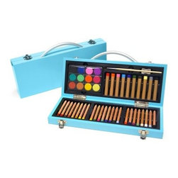 Xonex Junior Gallery Sky Blue Art Set - As colorful as it is convenient the Xonex Junior Gallery Sky Blue Art Set has a lacquered wood case and contains 24 colored pencils 10 oil pastels 12 watercolor cakes and one each; mixing palette paint brush and sharpener. It's also shrink-wrapped with descriptive slip sheet. About XonexThe folks at Xonex like to think that the reason for their success is their incredibly creative product line and fantastic staff of talented individuals. They know these two things are key to running a successful business but they're the first to admit that their customer's satisfaction is the true measure of their success. Xonex's stationery and art related products have gained quite a following in the world of gift retailers consumer catalogs and specialty chains. Xonex produces writing instruments with a twist creative art sets and beautiful stationery accessories. Their goal is to provide quality uniqueness and affordability - and to have fun doing it.