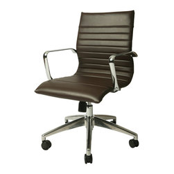 Pastel - Office Chair in Espresso - The Janette office chair has a retro and modern flair that will brighten any room. The Janette chair works in any and every office space.