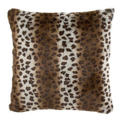 """Dian Austin Villa - Dian Austin Villa Faux-Leopard European Sham - Exclusively ours. These bed linens are called """"Gilded Age,"""" but the look is both modern and timeless. Chenille damask, pleated velvet, and faux-fur textures make it luxurious as well. Handcrafted in the USA of imported polyester fabrics, acrylic faux...."""