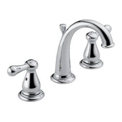 Delta Faucet - Lead Law Compliant 1.5 GPM 2 Handle Widespread Three Hole ADA Lavatory - High arc spout