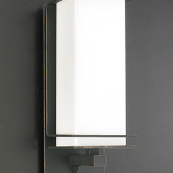 PLC Lighting - PLC 1 Light Outdoor Wall Fixture Santorini Collection 31926/CFL ORB - -Finish: Oil Rubbed Bronze