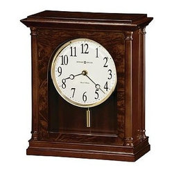 HOWARD MILLER - Howard Miller Candice Pendulum Mantel Clock - This attractive mantel clock combines classic style with contemporary details.