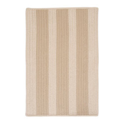 Colonial Mills, Inc. - Indoor/Outdoor Boat House, Natural Rug, Sample Swatch - Party crashers? Who cares! Versatile and durable, this tan-on-tan, fade- and stain-resistant outdoor rug is made to take whatever your crew can throw down.