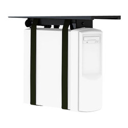 Herman Miller - Herman Miller CPU Holder - Free up space on your desktop by keeping your CPU under cover. This holder attaches to the underside of your workspace and allows your machine to slide out and rotate a full 360 degrees to give you easy access to the back.