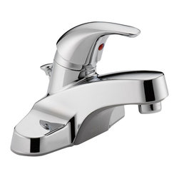 Delta Single Handle Lavatory Faucet - P136LF-M - Sensible styling that complements any home.