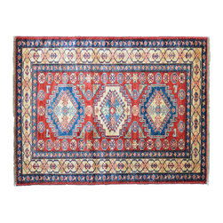 1800GetARug - Oriental Rug Kazak Hand Knotted Rug Sh11163 - About Tribal & Geometric