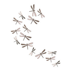 """Umbra - Umbra Wallflutter Wall Decor (Set of 20) Brush Nickel, Nickel - Umbra Wallflutter Wall decor (Set of 20), Brush NickelSet of 20 easy-to-hang wall decor dragonfliesEach dragonfly mounts to the wall with a simple snap-in tack for endless configurations; magnetic conversion kit also availableMade of molded plastic with nickel finishFour sizes of dragonflies ranging from 4.5"""" x 2.5"""" x .5"""" to 5.75"""" x 3.25"""" x .75""""Design: Marion Lanktree and Alan WisniewskiNeed more information on this product? Click here to ask."""