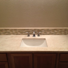 Contemporary Bathroom by One Step Travertine