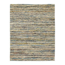 Anji Mountain - Topaz Saree Rug - 10' x 14' - Stunning color palettes and subtle gradient patterns abound in our Cosmos collection. This flat weave pile is constructed of carefully selected recycled material from vintage Indian sarees. Each rug is one of a kind and offers a unique juxtaposition of tradition, elegance and sustainability.