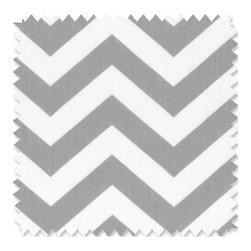 Doodlefish - Zig Zag Grey Doodlefish Fabric by the Yard - Zig Zag Grey Doodlefish Fabric by the Yard