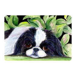 Caroline's Treasures - Japanese Chin Kitchen or Bath Mat 20 x 30 - Kitchen or Bath Comfort Floor Mat This mat is 20 inch by 30 inch. Comfort Mat / Carpet / Rug that is Made and Printed in the USA. A foam cushion is attached to the bottom of the mat for comfort when standing. The mat has been permanently dyed for moderate traffic. Durable and fade resistant. The back of the mat is rubber backed to keep the mat from slipping on a smooth floor. Use pressure and water from garden hose or power washer to clean the mat. Vacuuming only with the hard wood floor setting, as to not pull up the knap of the felt. Avoid soap or cleaner that produces suds when cleaning. It will be difficult to get the suds out of the mat.