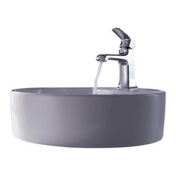 Kraus - Kraus Sink Decorum Basin Faucet Chrome - Add a touch of elegance to your bathroom with a ceramic sink combo from Kraus