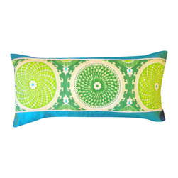Jiti - Coins Green Pillow - Jazz up your home decor with our Coins Green Pillow!  Made from 100% Cotton. Invisible Zipper. DRY CLEAN ONLY. Insert is made of 95% feathers and 5% down.