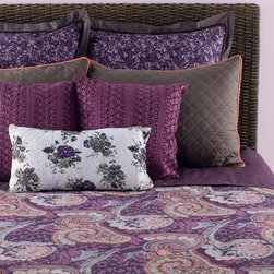 Rizzy Home - Rizzy Home Angelina 8 Piece Bedding Set - Scrolling floral designs and a bold henna pattern decorate the duvet cover of this vibrant bedding set, which is heightened by complementary colors and patterns on its pillows. With a luxurious and vivid luster, the bedset displays floral and exotic designs to achieve distinct elegance and rich ambiance in a bedroom. These elements combine to create sophisticated allure with the set:All pieces made from 100 percent cottonKing Bedding Set includes: one (1) 114 x 98-inch filled duvet, three (3) 26 x 26-inch euro shams, two (2) 20 x 36-inch king pillow shams, two (2) different 18 x 18-inch accent pillows, and one (1) 11 x 21-inch throw pillowQueen Bedding Set includes: one (1) 96 x 98-inch comforter, two (2) 26 x 26-inch euro shams, two (2) 20 x 26-inch standard shams, two (2) different 18 x 18-inch accent pillows, and one (1) 11 x 21-inch throw pillowPillow sham inserts and headboard not includedMade in India