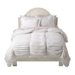 Simply Shabby Chic® Smocked Duvet Set - Includes: 2 Shams included in Full, Queen, King, Cal King set, 1 Sham included in Twin/Twin XL set, Duvet